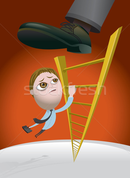 Challenges of Climbing the Corporate Ladder Stock photo © enterlinedesign
