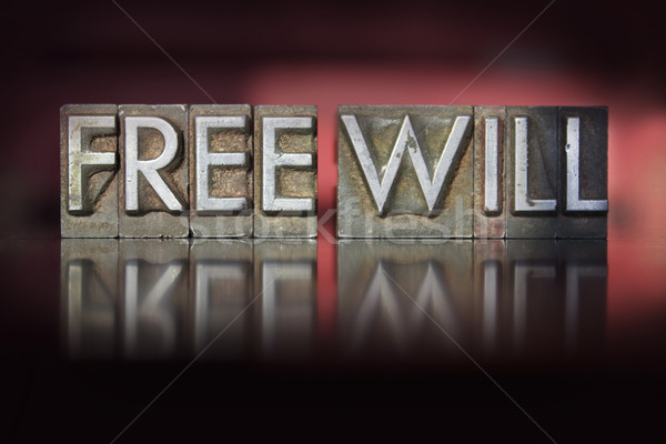 Free Will Letterpress Stock photo © enterlinedesign
