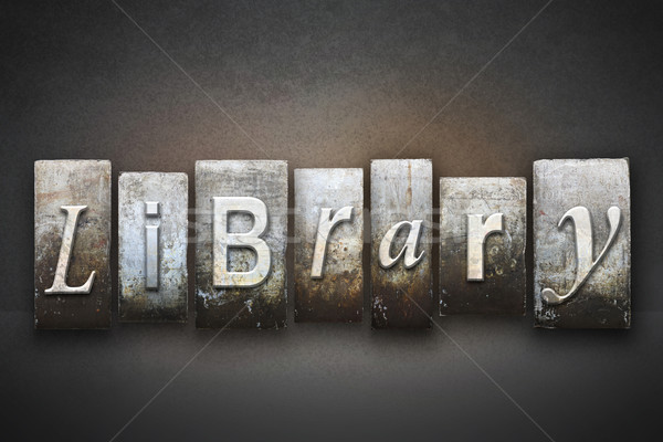 Biblioteca palavra escrito vintage tipo Foto stock © enterlinedesign
