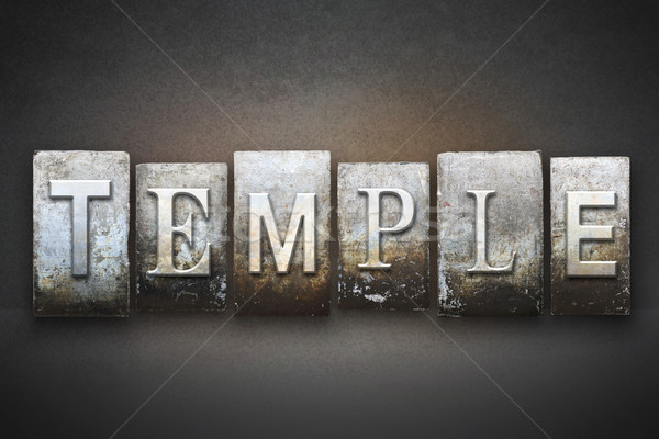 Temple mot écrit vintage type Photo stock © enterlinedesign