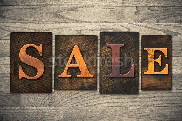 Сток-фото: продажи · тип · слово · написанный
