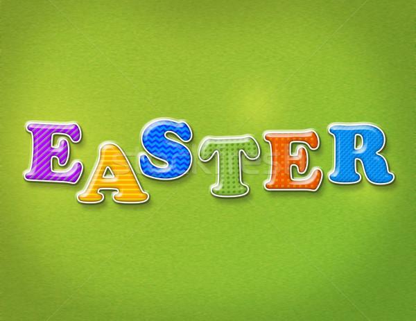 Colorido páscoa cartas palavra escrito diversão Foto stock © enterlinedesign