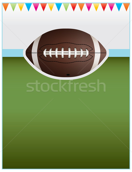 Vector Football Party Flyer Background Stock photo © enterlinedesign