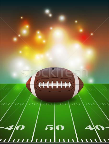 Amerikan futbol sahası futbol çim alan Stok fotoğraf © enterlinedesign