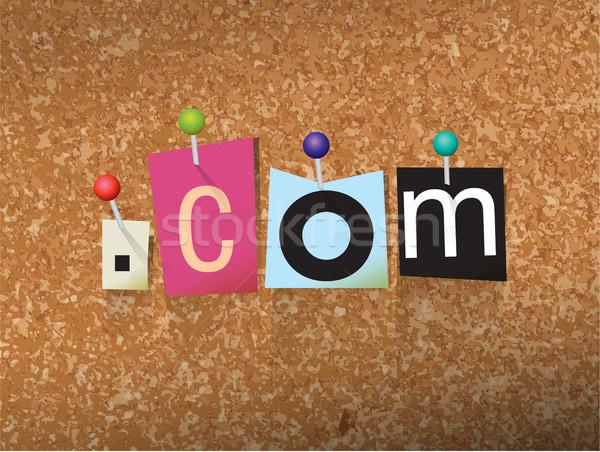 Dot Com Concept Pinned Letters Illustration Stock photo © enterlinedesign