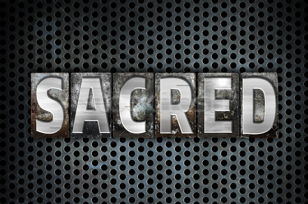 Sacred Concept Metal Letterpress Type Stock photo © enterlinedesign