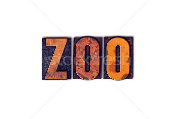 Zoo Concept Isolated Letterpress Type Stock photo © enterlinedesign