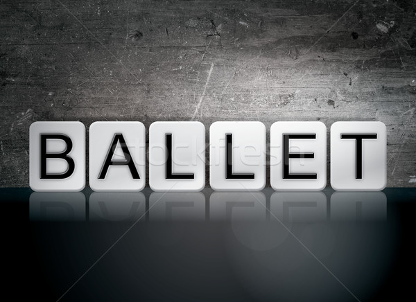Ballet Tiled Letters Concept and Theme Stock photo © enterlinedesign