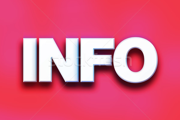 Info coloré mot art écrit blanche Photo stock © enterlinedesign