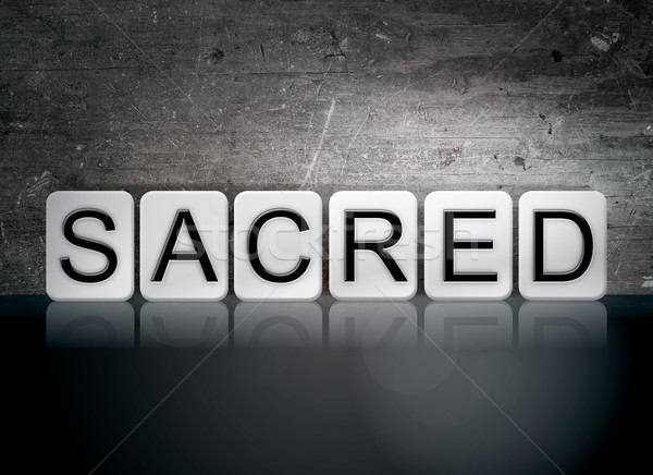 Sacred Tiled Letters Concept and Theme Stock photo © enterlinedesign