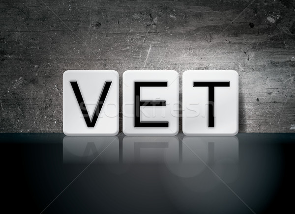 Vet Tiled Letters Concept and Theme Stock photo © enterlinedesign