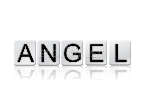 Angel Concept Tiled Word Isolated on White Stock photo © enterlinedesign