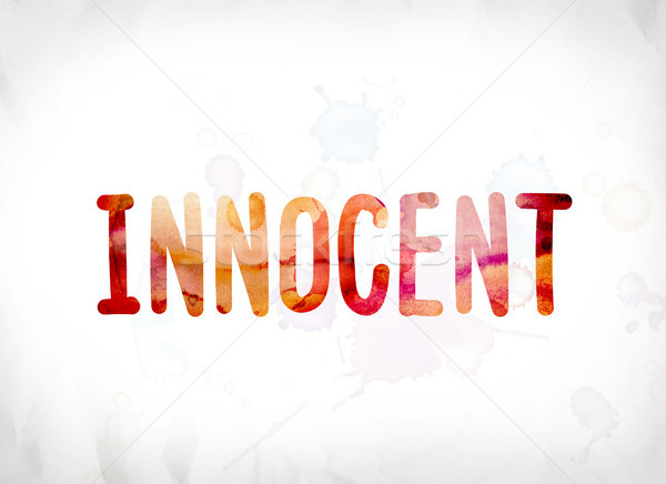 Innocent peint couleur pour aquarelle mot art coloré Photo stock © enterlinedesign