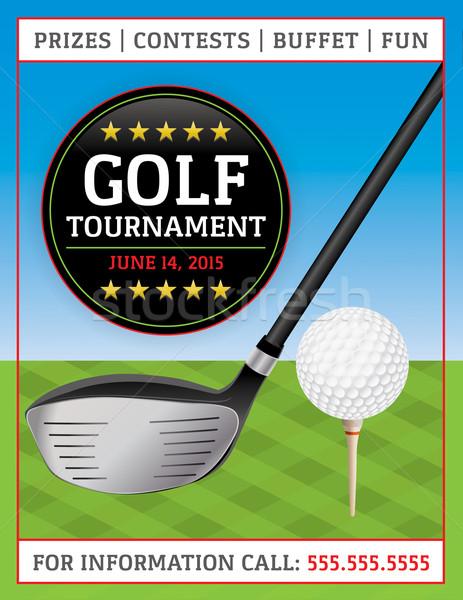 Golf torneo volante ilustración perfecto acontecimientos Foto stock © enterlinedesign