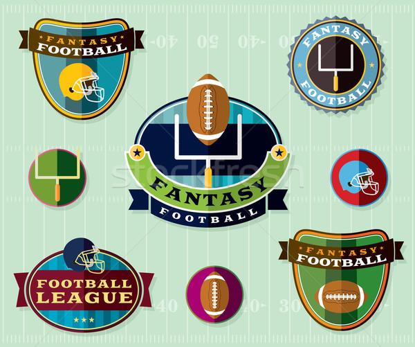 Fantasy football illustration badges Photo stock © enterlinedesign