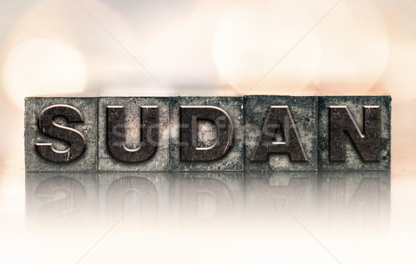 Sudan Concept Vintage Letterpress Type Stock photo © enterlinedesign