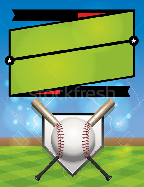 Vector baseball competitie illustratie registratie eps Stockfoto © enterlinedesign
