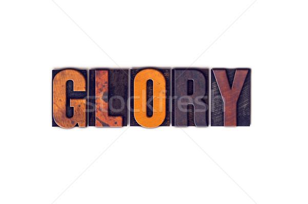 Glória isolado tipo palavra escrito Foto stock © enterlinedesign