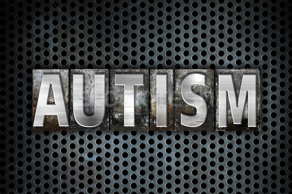 Autismo metal tipo palavra escrito Foto stock © enterlinedesign