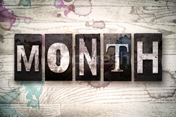 Month Concept Metal Letterpress Type Stock photo © enterlinedesign