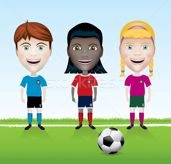 Soccer Team Youth Illustration Stock photo © enterlinedesign