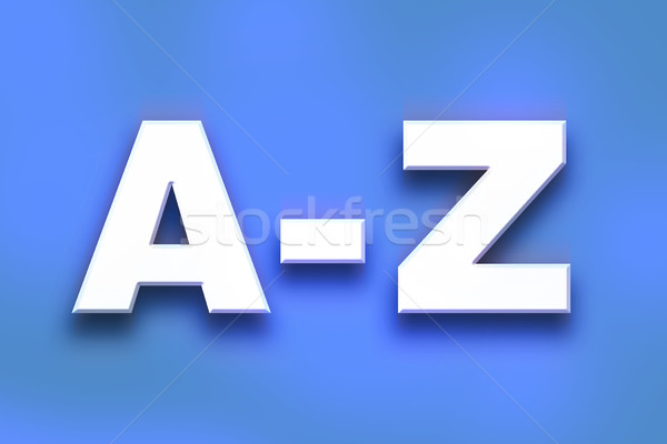 A-Z Concept Colorful Word Art Stock photo © enterlinedesign