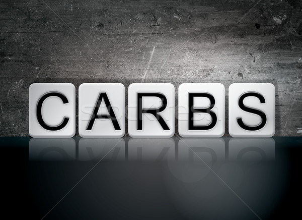 Carbs Tiled Letters Concept and Theme Stock photo © enterlinedesign