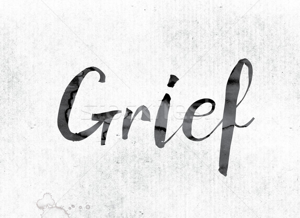 Grief Concept Painted in Ink Stock photo © enterlinedesign