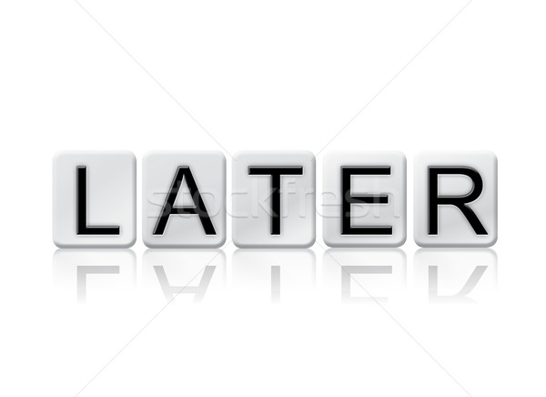 Later Isolated Tiled Letters Concept and Theme Stock photo © enterlinedesign
