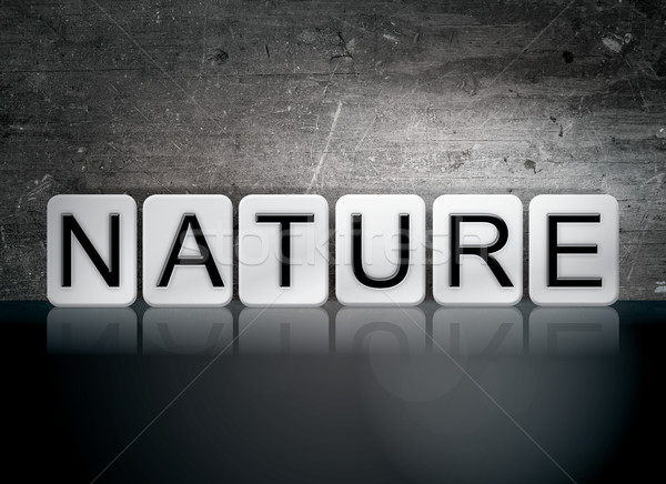 Nature Tiled Letters Concept and Theme Stock photo © enterlinedesign