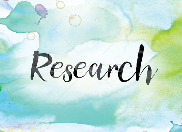 Research Colorful Watercolor and Ink Word Art Stock photo © enterlinedesign