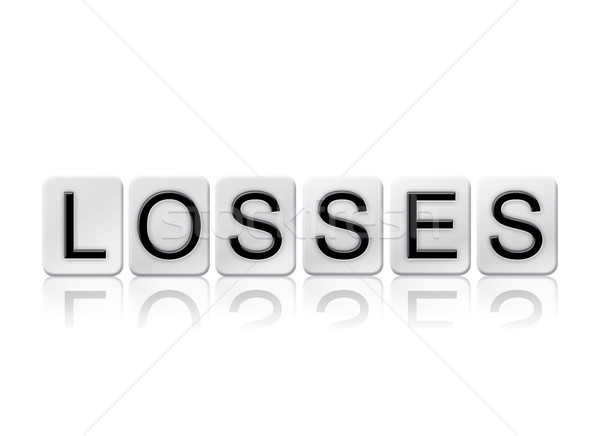 Losses Concept Tiled Word Isolated on White Stock photo © enterlinedesign