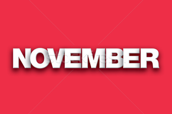 November Theme Word Art on Colorful Background Stock photo © enterlinedesign