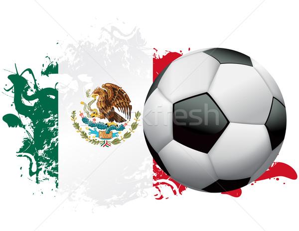 商业照片: 墨西哥 · 足球 · 褴褛 · 设计 · 足球 ·旗