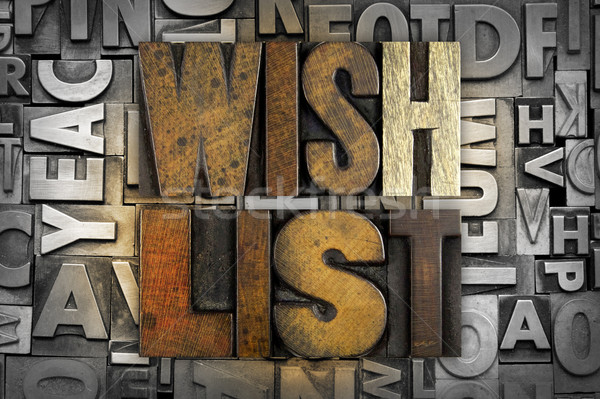 Wish List Stock photo © enterlinedesign