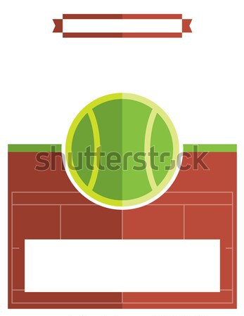 Tennis Match Flyer Illustration Stock photo © enterlinedesign