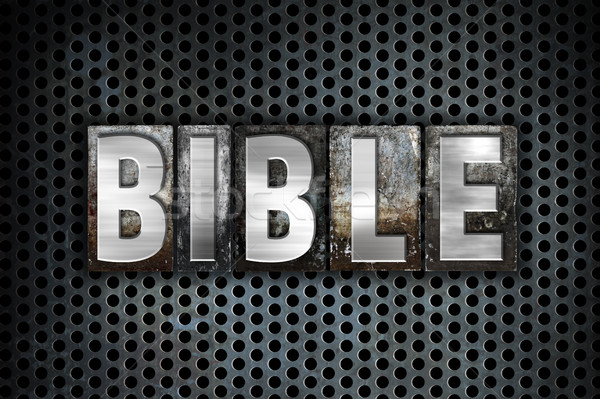 Bible Concept Metal Letterpress Type Stock photo © enterlinedesign