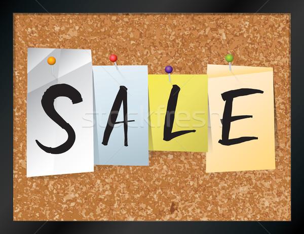 продажи бюллетень совета иллюстрация слово написанный Сток-фото © enterlinedesign