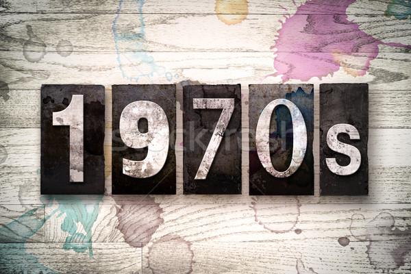 1970s Concept Metal Letterpress Type Stock photo © enterlinedesign