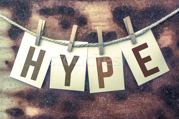Hype Concept Pinned Stamped Cards on Twine Theme Stock photo © enterlinedesign