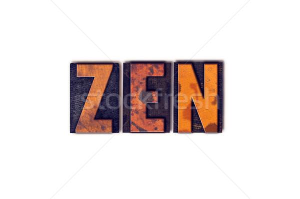 Сток-фото: Zen · изолированный · тип · слово · написанный
