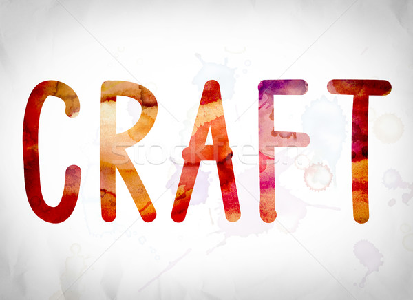 Craft Concept Watercolor Word Art Stock photo © enterlinedesign