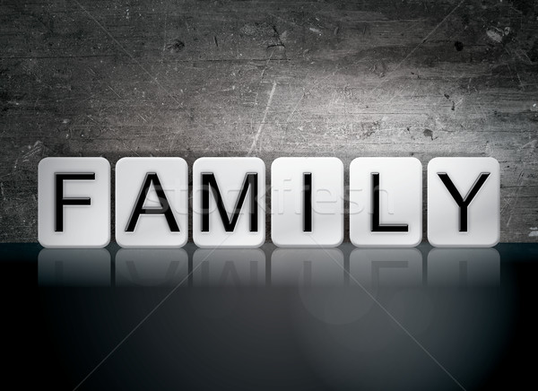 Stock photo: Family Tiled Letters Concept and Theme