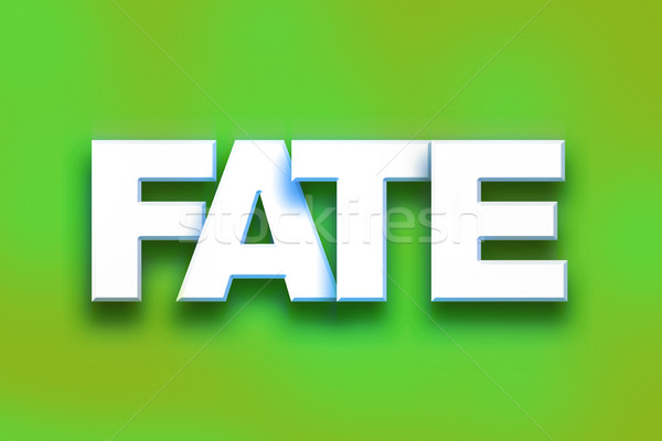 Fate Concept Colorful Word Art Stock photo © enterlinedesign