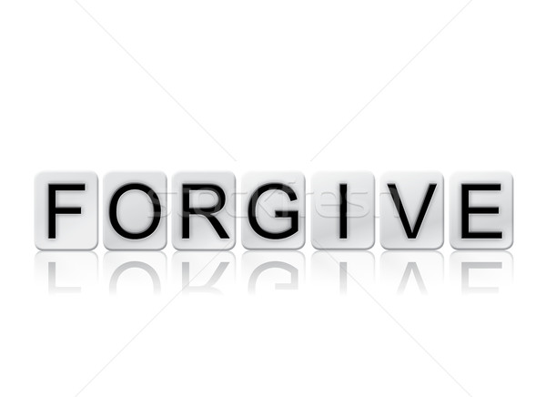 Forgive Isolated Tiled Letters Concept and Theme Stock photo © enterlinedesign
