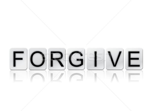 Isolato piastrellato lettere parola scritto piastrelle Foto d'archivio © enterlinedesign