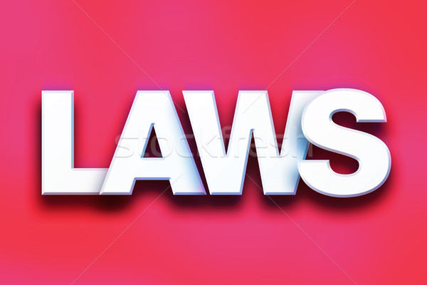 Laws Concept Colorful Word Art Stock photo © enterlinedesign
