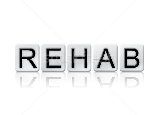 Rehab Isolated Tiled Letters Concept and Theme Stock photo © enterlinedesign