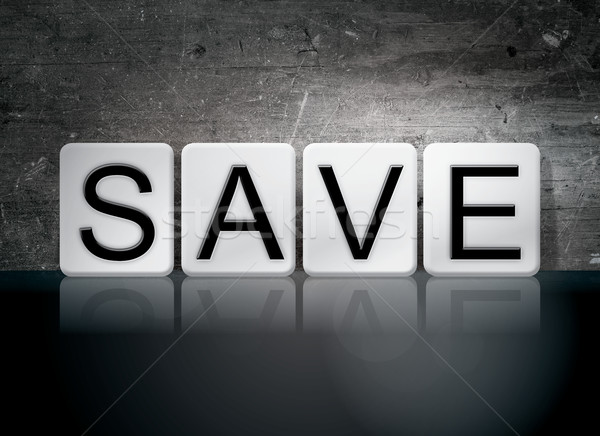 Save Tiled Letters Concept and Theme Stock photo © enterlinedesign