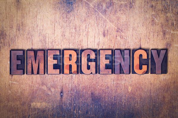 чрезвычайных слово древесины написанный Vintage Сток-фото © enterlinedesign